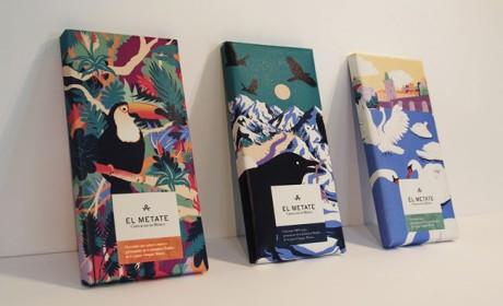 墨西哥风味的El Metate巧克力包装设计