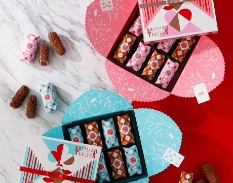 缤纷华丽图样的情人节巧克力礼盒包装设计