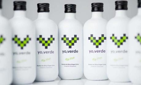 绿色橄榄油包装瓶设计