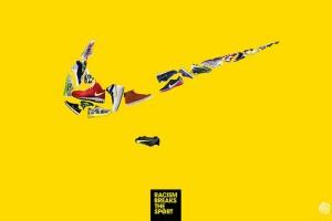 海报设计公司怎样经过颜色表达设计主题-知名运动品牌反种族主义活动宣传海报设计
