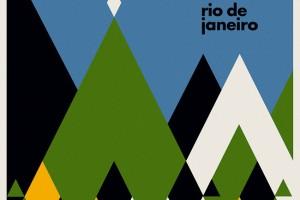 海报设计公司怎样在设计中传递艺术性-巴西巡回演唱会抽象几何图案海报设计