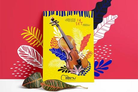 广告海报设计技能解析-Menu Curitiba音乐表演活动海报设计