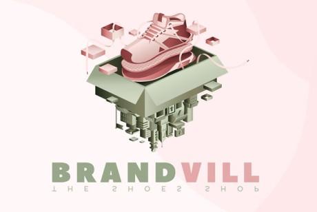 鞋店时尚VI设计BRANDVILL品牌形象设计欣赏