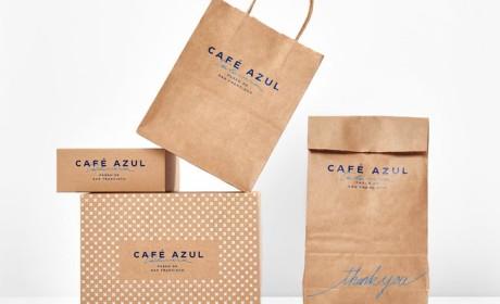 咖啡馆品牌形象Cafe Azul品牌VI设计欣赏