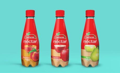 这个设计师简单粗暴的呈现果汁包装设计视觉