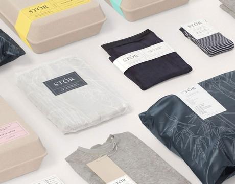 简洁环保贴身服装包装设计欣赏