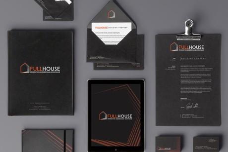 FULLHOUSE建筑公司VI设计基础应用赏析