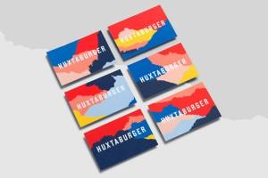 国外Huxtaburger快餐品牌形象VI设计及包装设计