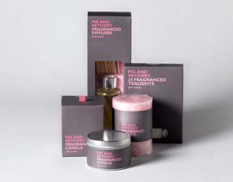 英国Charlie Smith Design机构设计的John Lewis品牌香薰蜡烛包装欣赏