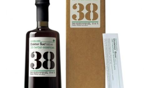 国外包装上加了盲文的无障碍化药酒包装设计