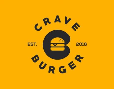 Crave Burger汉堡快餐品牌VI形象设计丨餐饮企业视觉识别体实践运用
