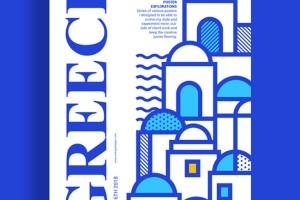 广告海报是如何进行创意设计的,我们来看看希腊Mike Karolos这款图形海报设计
