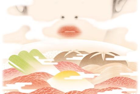 Kioizaka品牌寿喜烧的海报设计