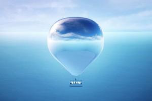 美国艺术家打造「反射镜面热气球」将大地景色带入云层中翱翔