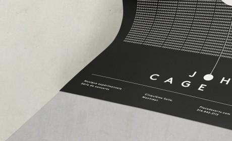简约到十分惊艳的John Cage实验海报设计