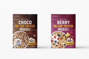 早餐吃麦片 Daily Boost 日卜力(P) Muesli 野莓/巧克力包装设计