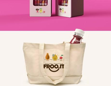IT果汁瓶型和瓶贴设计