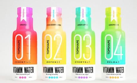topshape维生素水包装设计策划