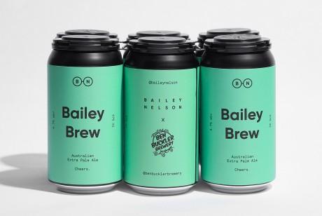 Bailey Brew浅绿色的听装啤酒包装设计