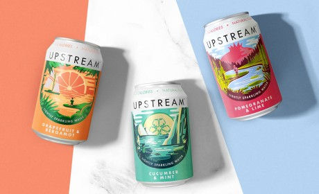 Upstream苏打水品牌定位策划及产品包装设计欣赏