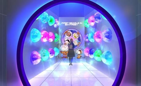 SNOOPY晴空塔宇宙展和东京夜景很配哦!