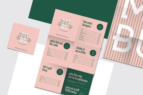 MIBU汉堡食品品牌设计