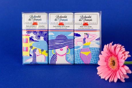 法国里维埃拉风情巧克力包装设计