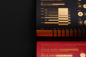 特殊的纸张媒材烫金样品设计