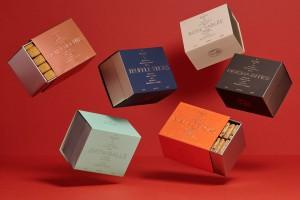 Rocca饼干相当典雅的银卡纸系列包装设计