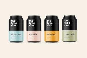 The type can类型爱好者的啤酒包装设计
