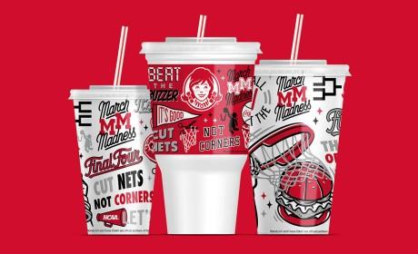 Wendy's疯狂三月杯子包装设计