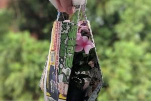 可持续发展从点滴做起,来看看这款环保理念的盆栽植物报纸袋包装设计
