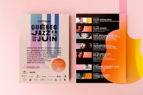 魁北克市爵士音乐节品牌识别设计