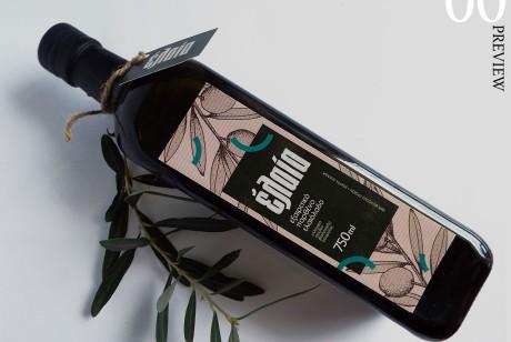 Elaia橄榄油包装标签设计