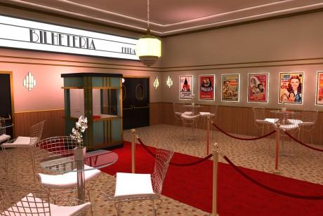 这个电影院快闪设计有点复古的范哦