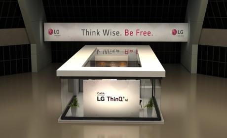 这个LG ThinQ展位设计空间感很足
