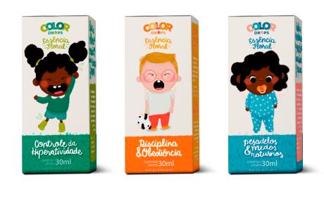 COLOR DROPS LINE儿童插画包装设计