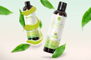 柚子精油天然洗发水包装设计