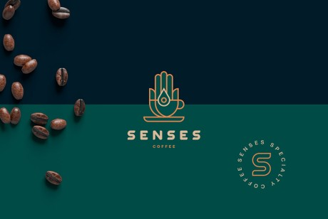 Senses咖啡品牌logo设计及包装设计