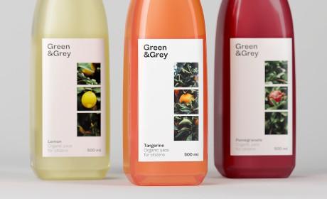 """Green&Grey""品牌有机果汁包装设计"