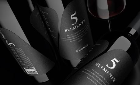 5 ELEMENTE复杂的重新定位。 限量版优质葡萄酒。