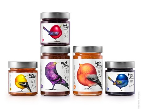 "Beak Pick ""鸟喙""主张健康饮食水果果酱品牌包装设计"