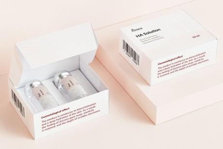 医美护肤包装设计做到极致简约时包装也可以为产品背书,来看看俄罗斯设计师创作的阿米娅这款包装。