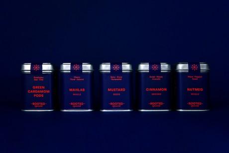 香料包装设计采用特殊的红蓝撞色之后显得充满活力