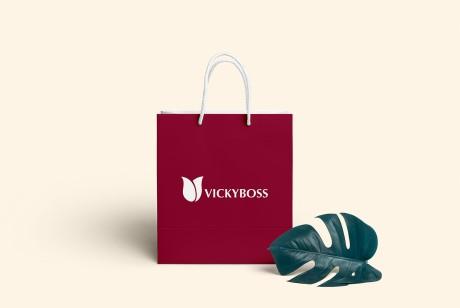 vi设计公司的可以通过比较品牌意识判断优劣,皮革制品VickyBoss品牌识别设计
