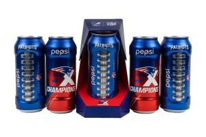 限量版包装设计百事可乐庆祝爱国者队第六次夺冠