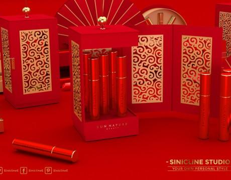 化妆品礼品包装新年礼盒设计,看看这位美国设计师对中国风格的理解