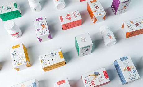 营养保健品包装设计充满新生活力的插画视觉,[ZTUAN植特安]品牌识别设计
