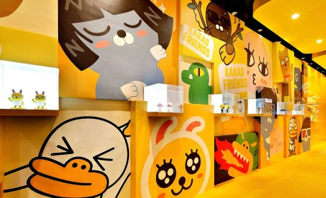 KAKAO主题展览策划了那么多萌萌表情人物,看得心都酥了