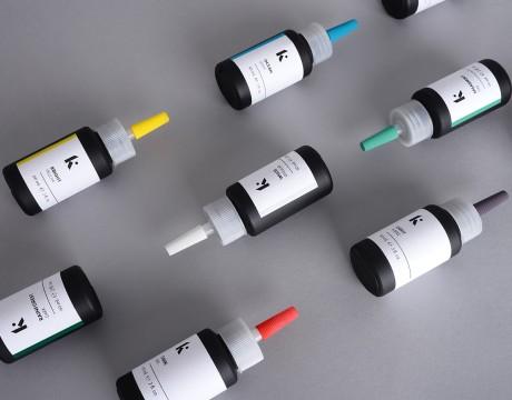 高端纹身工作室Inkplant的纹身染料包装设计